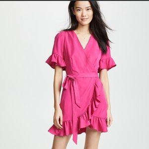 Line + Dot mock wrap dress hot pink :)